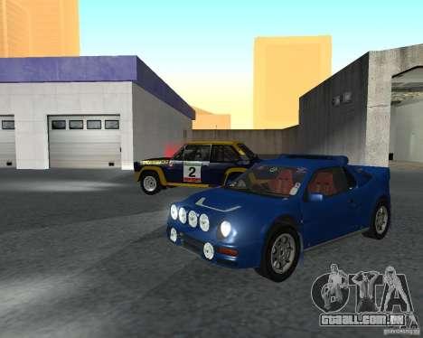 Ford RS 200 para GTA San Andreas esquerda vista