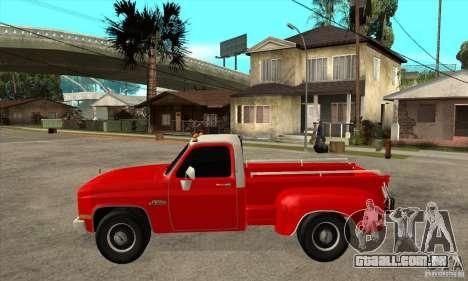GMC 454 PICKUP para GTA San Andreas esquerda vista
