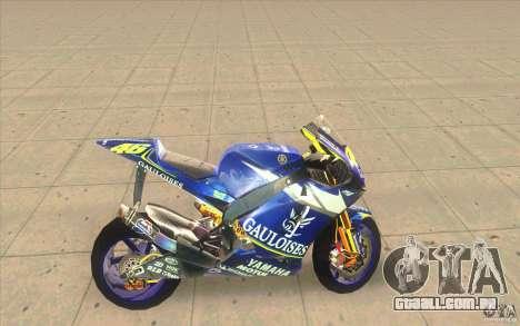 Yamaha M1 Rossi para GTA San Andreas esquerda vista