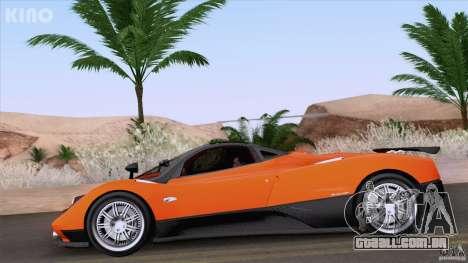 Pagani Zonda F para vista lateral GTA San Andreas
