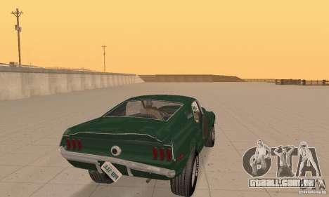 Ford Mustang Bullitt 1968 v.2 para vista lateral GTA San Andreas