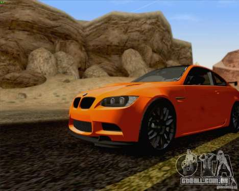 BMW M3 GT-S Fixed Edition para GTA San Andreas traseira esquerda vista