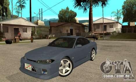 Nissan Silvia S15 Tun para GTA San Andreas esquerda vista