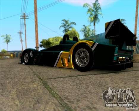 Caterham Lola SP300R para GTA San Andreas traseira esquerda vista