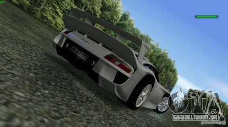 Porsche 911 GT1 Evolution Strassen Version 1997 para GTA San Andreas esquerda vista