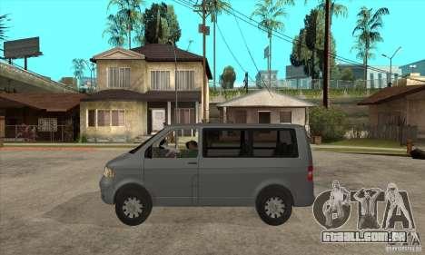Volkswagen Transporter T5 TDI para GTA San Andreas esquerda vista