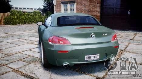 BMW Z4 sDrive35is 2011 v1.0 para GTA 4 traseira esquerda vista