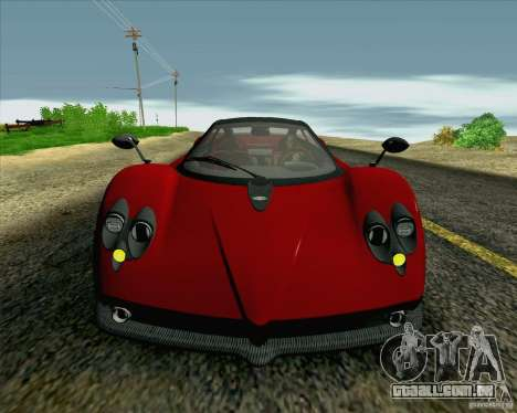 Pagani Zonda F v2 para vista lateral GTA San Andreas