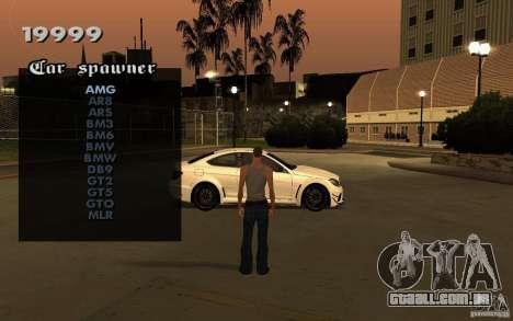 Vehicles Spawner para GTA San Andreas