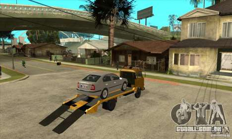 Caminhão de reboque Avia A31 para GTA San Andreas vista direita
