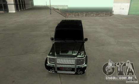 Mercedes Benz G500 ART FBI para GTA San Andreas vista traseira
