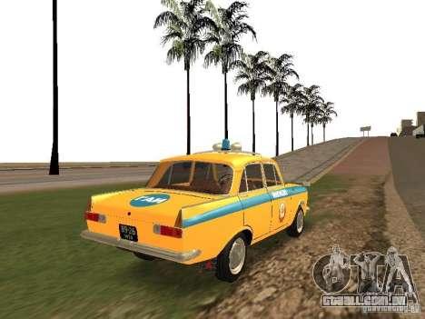 IZH 412 GAI para GTA San Andreas traseira esquerda vista