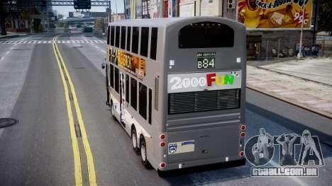 HKBUS Q SIZE para GTA 4 traseira esquerda vista