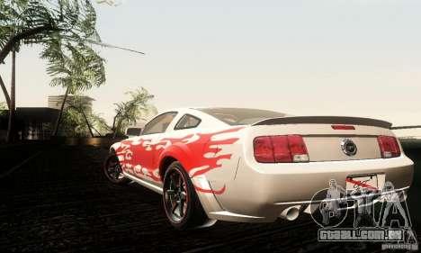 Ford Mustang GT Tunable para GTA San Andreas vista traseira