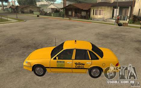 Ford Crown Victoria Taxi 1992 para GTA San Andreas esquerda vista