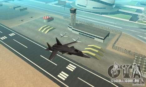 Su-47 berkut Defolt para GTA San Andreas vista direita