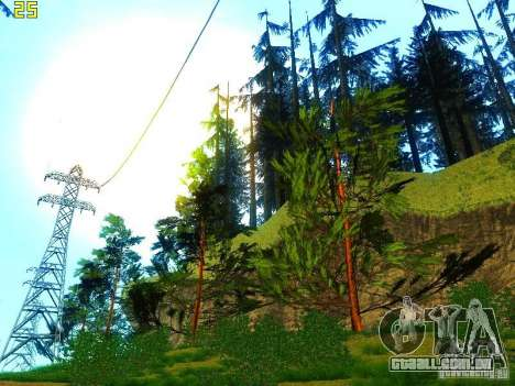 Vegetação perfeita v. 2 para GTA San Andreas oitavo tela