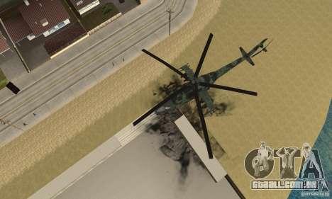 Black Ops Hind para GTA San Andreas vista direita