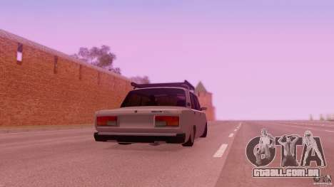 VAZ 2107 para GTA San Andreas esquerda vista