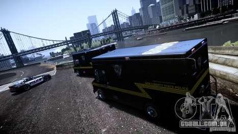 Boxville Police para GTA 4 traseira esquerda vista