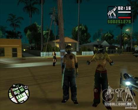 Novas skins para Groove para GTA San Andreas por diante tela