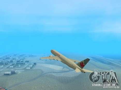 Boeing 767-300 Air Canada para GTA San Andreas vista direita