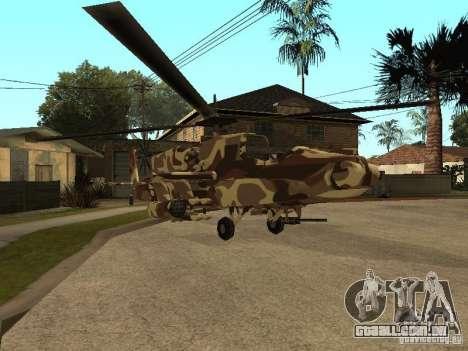 Novas texturas para o caçador para GTA San Andreas esquerda vista