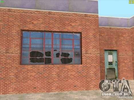 Nova garagem em Doherty para GTA San Andreas por diante tela