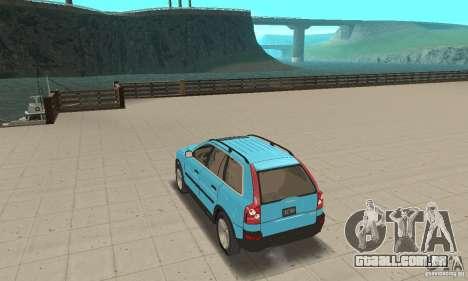 Volvo XC90 para GTA San Andreas traseira esquerda vista