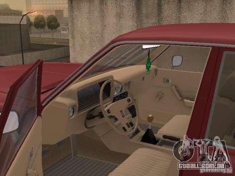 Toyota Cressida para GTA San Andreas vista interior