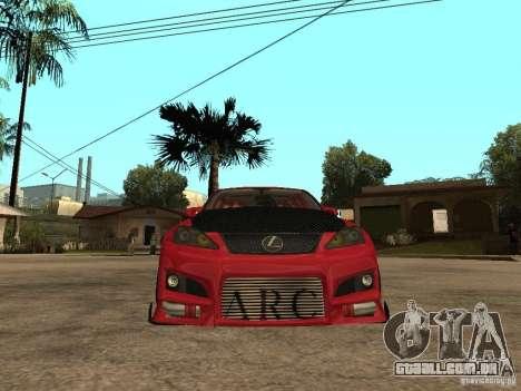 Lexus Drift Car para GTA San Andreas vista direita