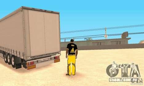 Krone Trailer para GTA San Andreas esquerda vista