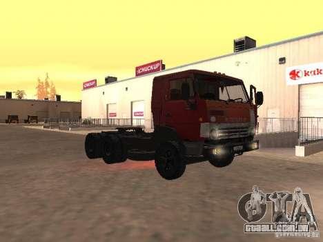 KAMAZ 5410 para vista lateral GTA San Andreas