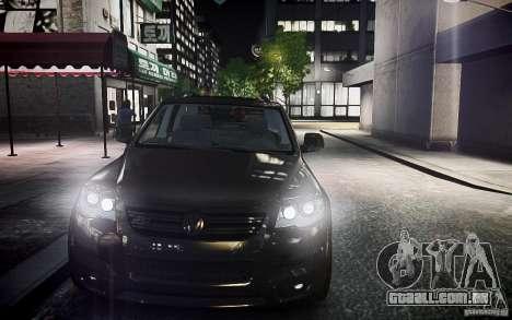 Volkswagen Touareg R50 para GTA 4 vista de volta