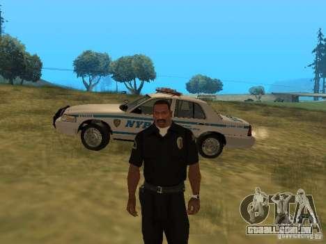 Ford Crown Victoria NYPD Police para GTA San Andreas vista superior