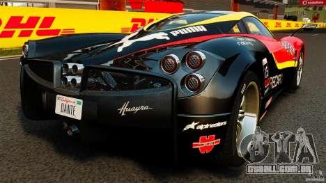 Pagani Huayra 2011 [EPM] para GTA 4 traseira esquerda vista
