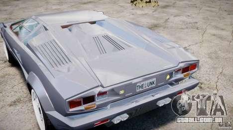 Lamborghini Countach para GTA 4 vista interior