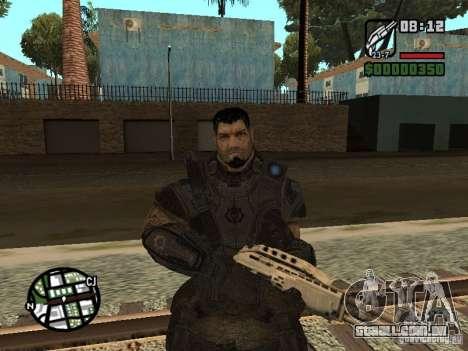 Dominic Santiago de Gears of War 2 para GTA San Andreas