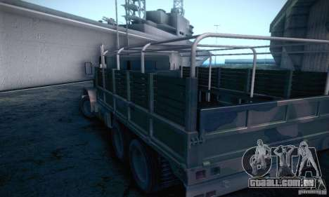 Barracks HD para GTA San Andreas traseira esquerda vista