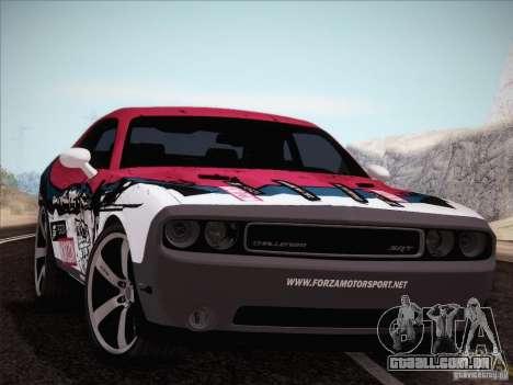 Dodge Challenger SRT8 2010 para GTA San Andreas vista superior