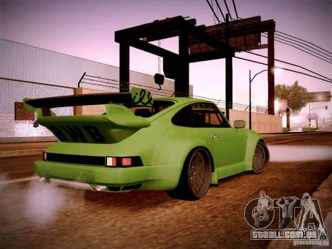 Porsche 911 Turbo RWB Pandora One para GTA San Andreas vista direita