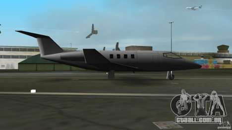 Shamal Plane para GTA Vice City vista traseira esquerda