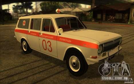 Ambulância de Volga GAZ-24 03 para GTA San Andreas