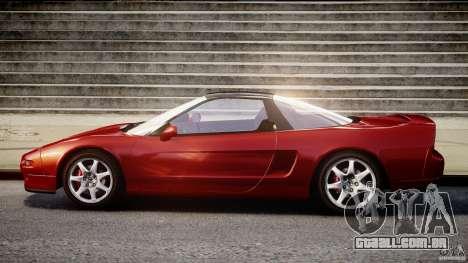 Acura NSX 1991 para GTA 4 vista de volta