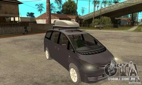 Toyota Estima para GTA San Andreas vista traseira