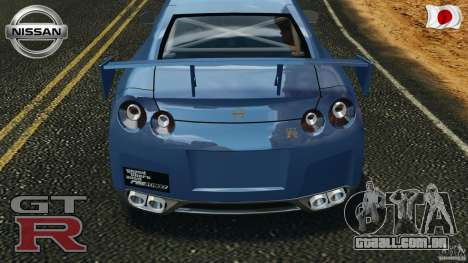 Nissan GT-R 35 rEACT v1.0 para GTA 4 vista superior