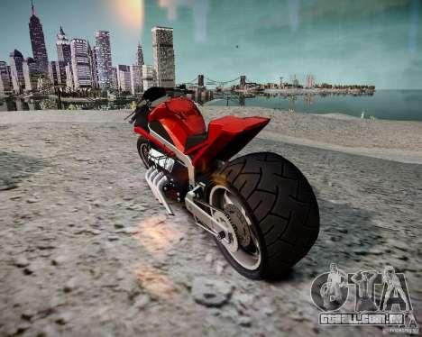 Drag Bike para GTA 4 esquerda vista