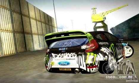 Ford Fiesta Gymkhana 4 para GTA San Andreas vista traseira