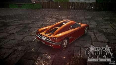 Koenigsegg CCX v1.1 para GTA 4 traseira esquerda vista