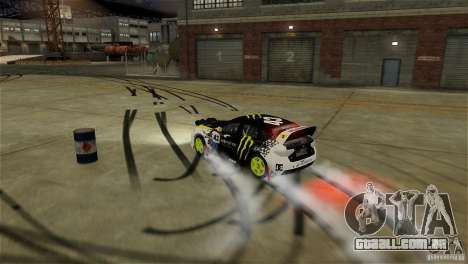 Subaru Impreza WRX STI Rallycross Monster Energy para GTA 4 interior